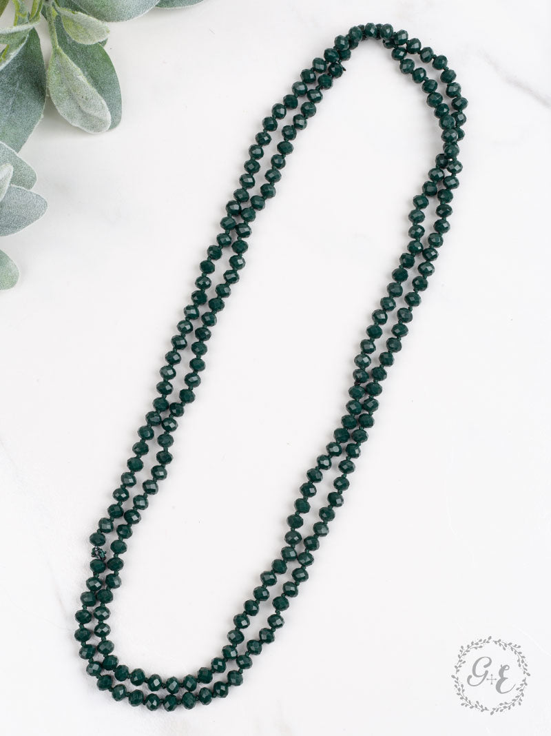 Emerald Essential Bead Necklace - Crowned Boutique