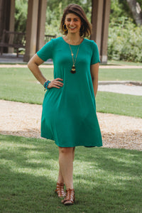 Spring has Sprung Dress Kelly Green - Crowned Boutique