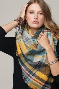 Mustard Blanket Scarf - Crowned Boutique