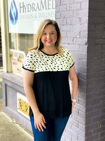 Dotted Dalmatian Top - Crowned Boutique