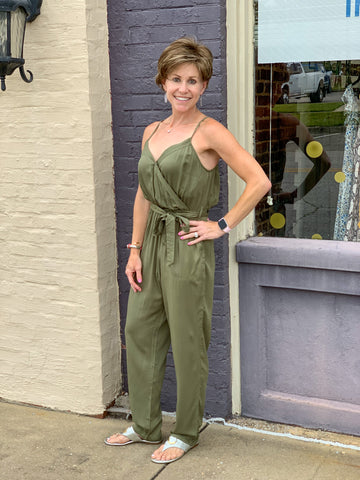 Olive Jumpsuit - Crowned Boutique