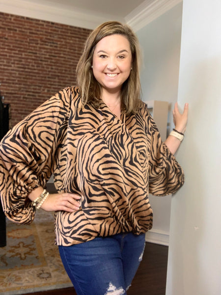 Something Fierce Tiger Striped Top