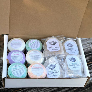 Shower Steamer/Bath Tea Assortment Box - Crowned Boutique