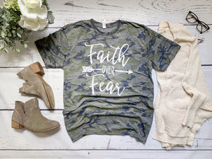 Faith Over Fear- Camo - Retired