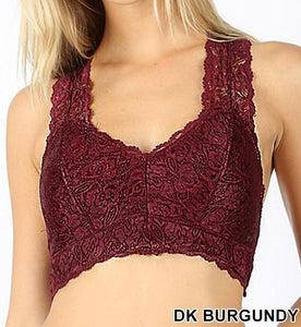 Plus Lace Hourglass Back Bralette