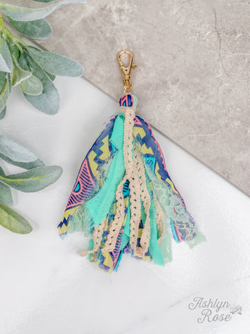 Mint to Be Keychain Tassel - Crowned Boutique