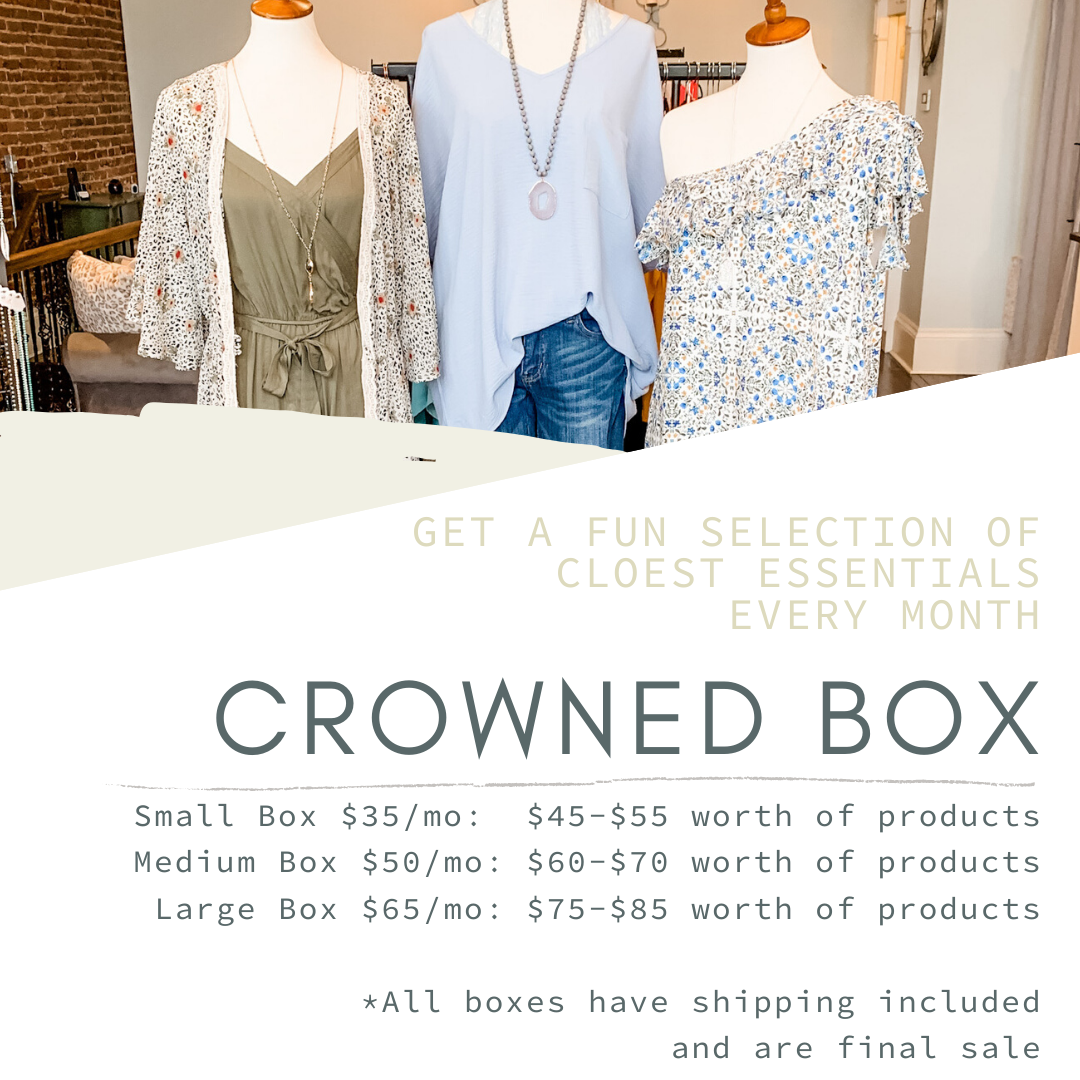 Crowned Box Monthly - Crowned Boutique