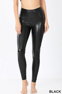 Faux Leather Leggings - Crowned Boutique
