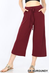 Cropped Lounge Pants with Pockets - Plus