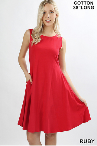 Ruby Red Dress - Crowned Boutique