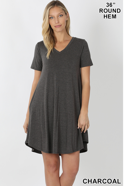 Pocket Tee Dress - Crowned Boutique