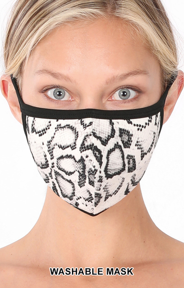Snake Print Washable Face Mask - Crowned Boutique