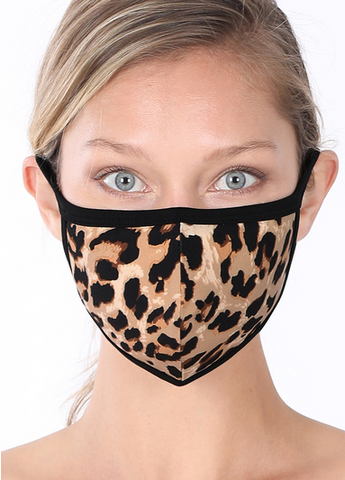 Washable Leopard Face Mask - Crowned Boutique