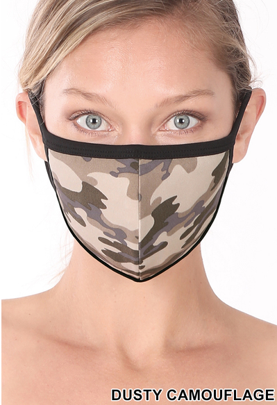Camo Washable Face Mask - Crowned Boutique