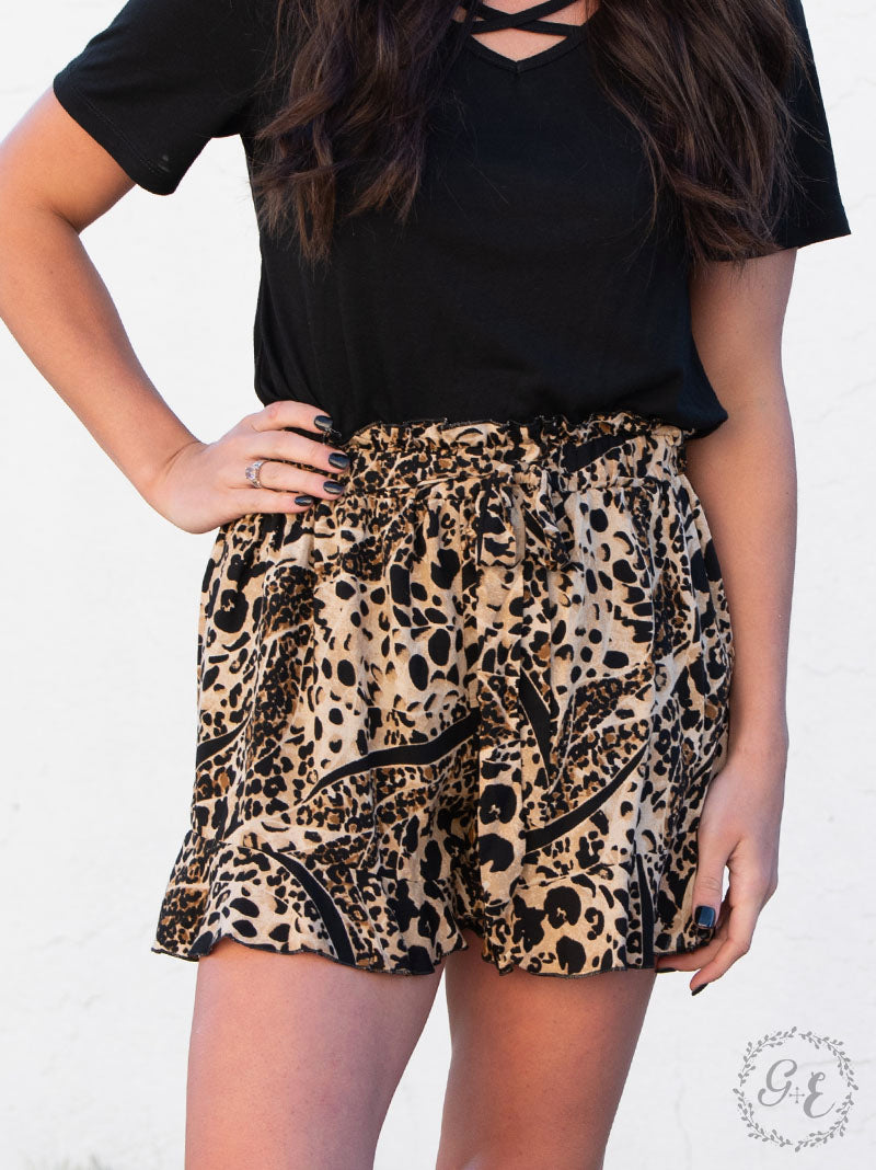 Alley Cat Ruffle Shorts - Crowned Boutique
