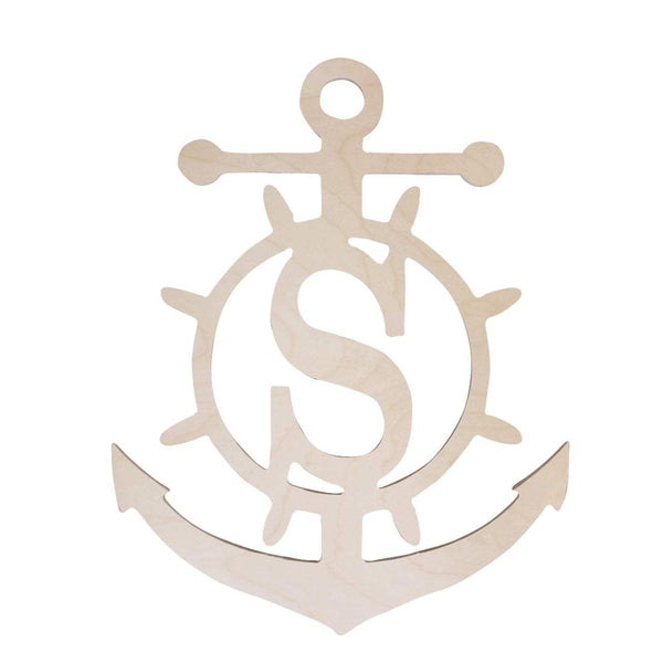 Anchor Wood Monogram