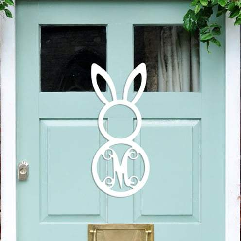 Easter Bunny Wood Monogram