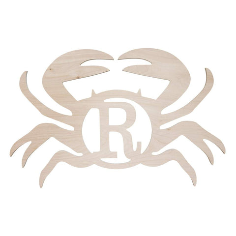 Crab Wood Monogram - Crowned Boutique