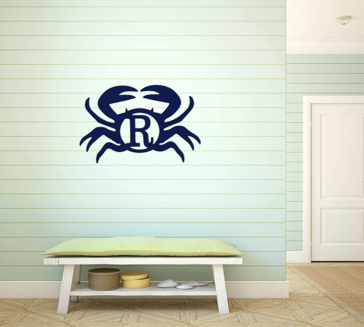 Crab Wood Monogram