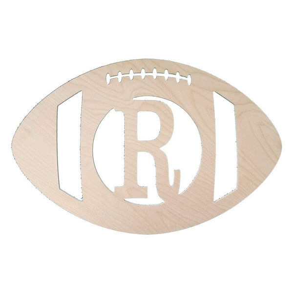Football Wood Monogram