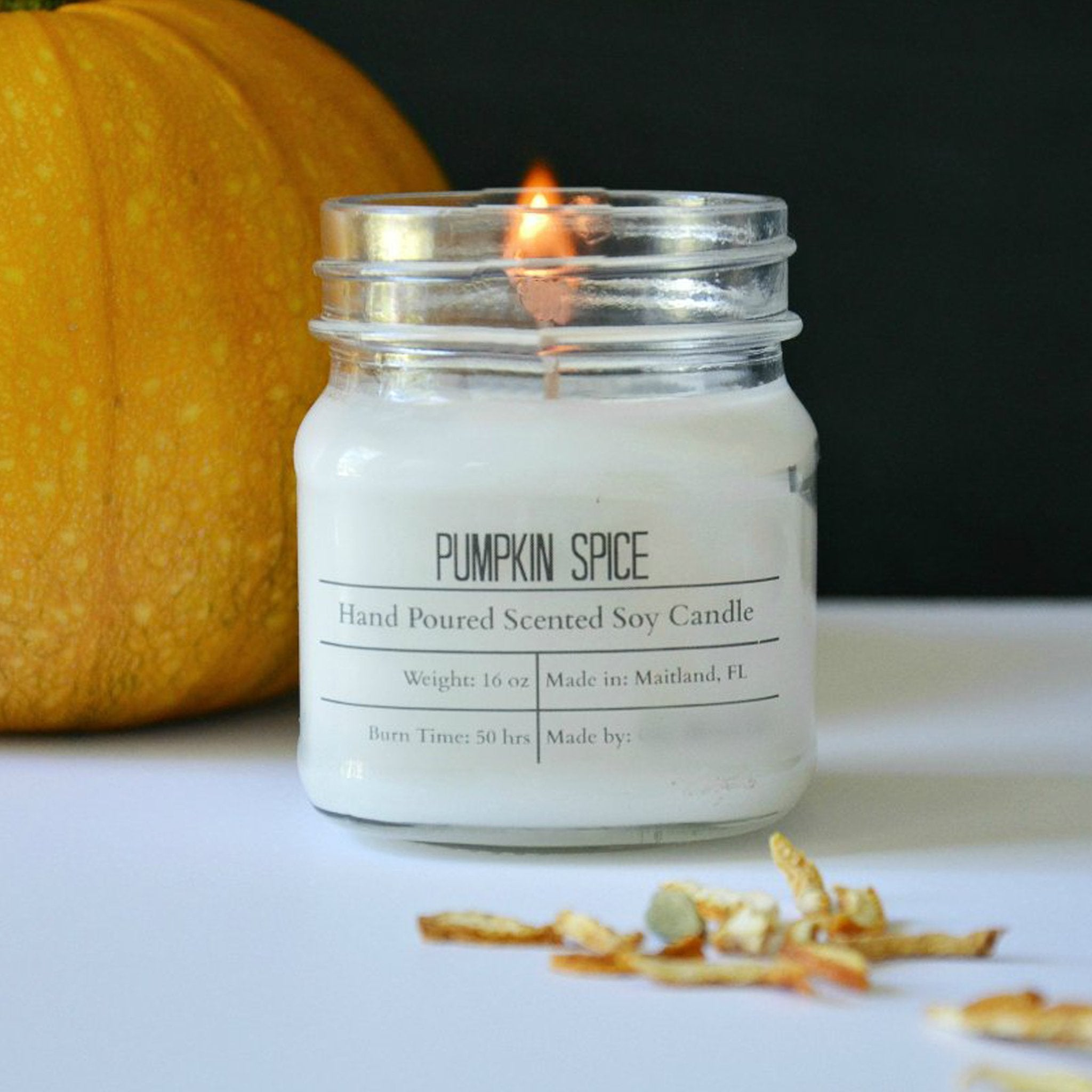 Fall Scented Cotton Wick Soy Wax Candles