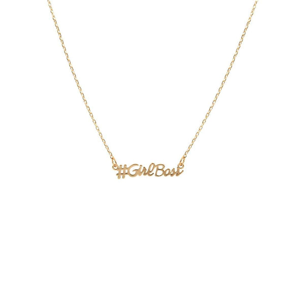 #Girlboss Script Necklace