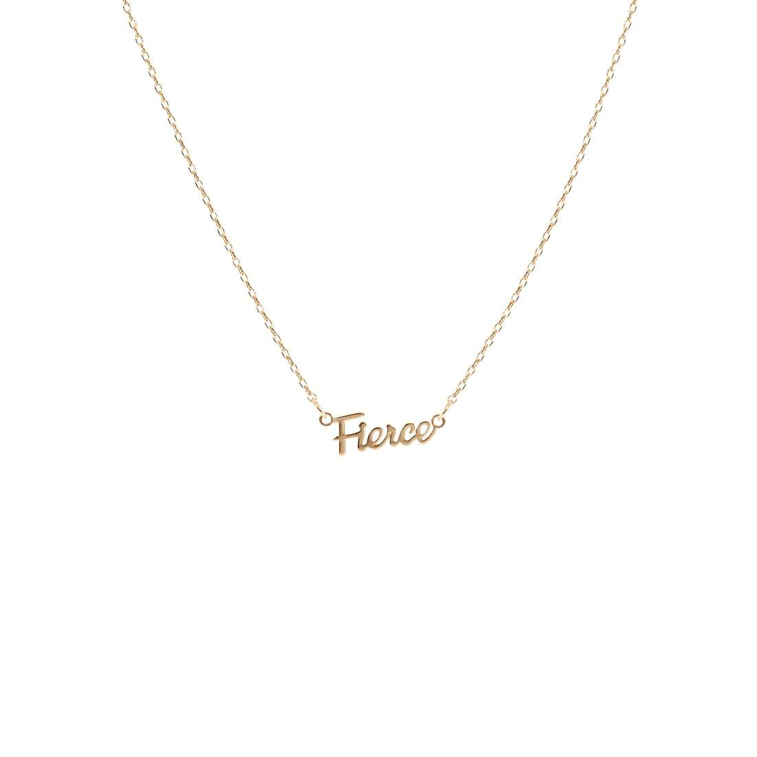 Fierce Script Necklace