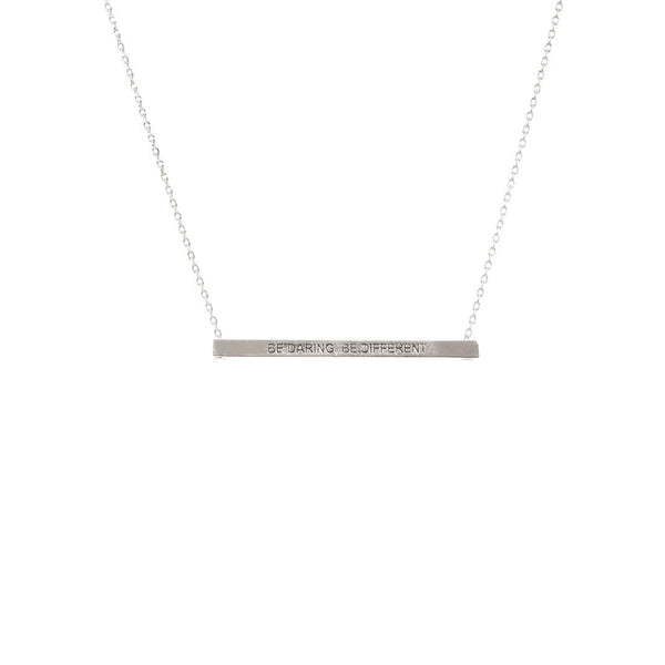 Be Daring Be Different Bar Necklace