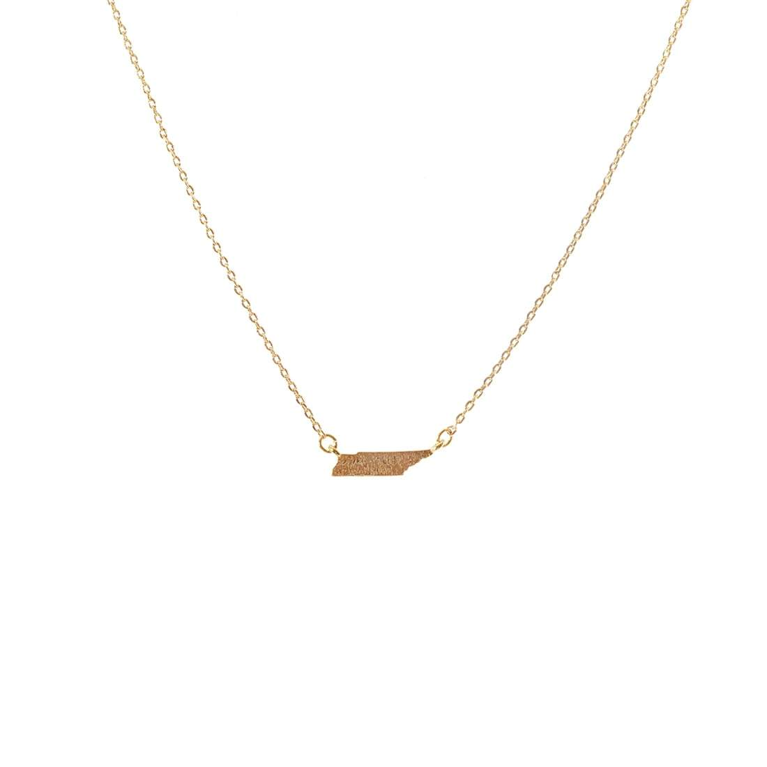 Gold Tennessee State Necklace