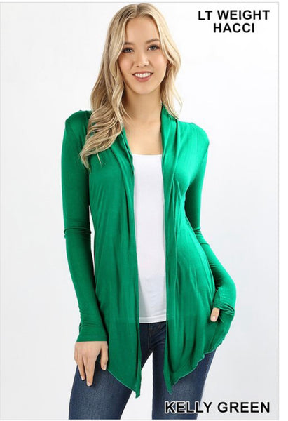 Kelly Green Sheer Cardigan - Crowned Boutique