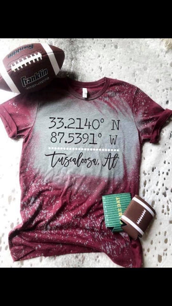 Latitude/Longitude Tee - Crowned Boutique