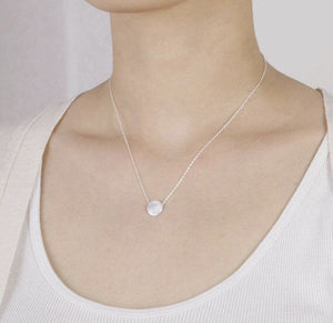 Brushed Dot Pendant: available in gold, silver, and rose gold