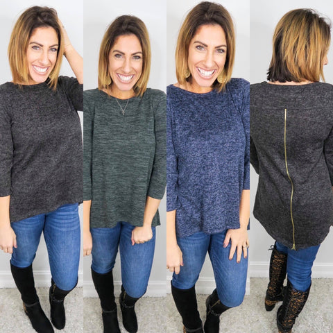 Phierce and Zippy Sweater - Crowned Boutique