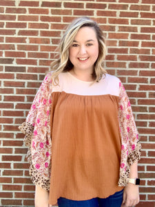 Mix It Up Floral Top - Crowned Boutique