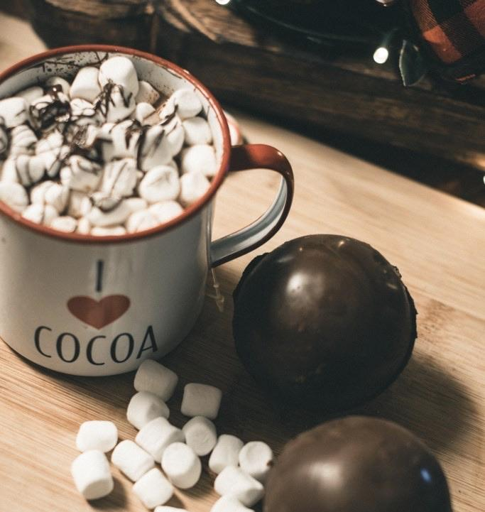 White Chocolate Cocoa Bombs