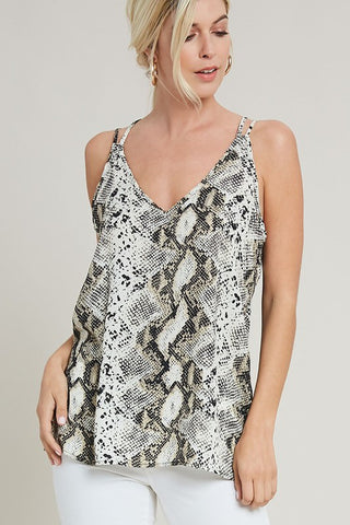 Snake Skin Tank - Crowned Boutique