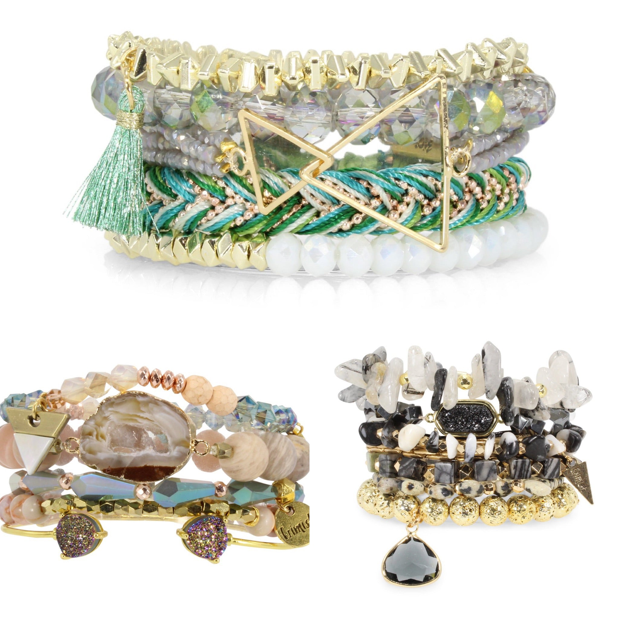 Erimish beaded bracelets stacks - Crowned Boutique