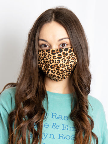 Leopard Print Mask - Crowned Boutique