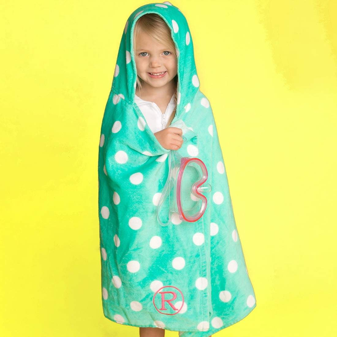 Mint Dandy Dot Hooded Towel - Crowned Boutique