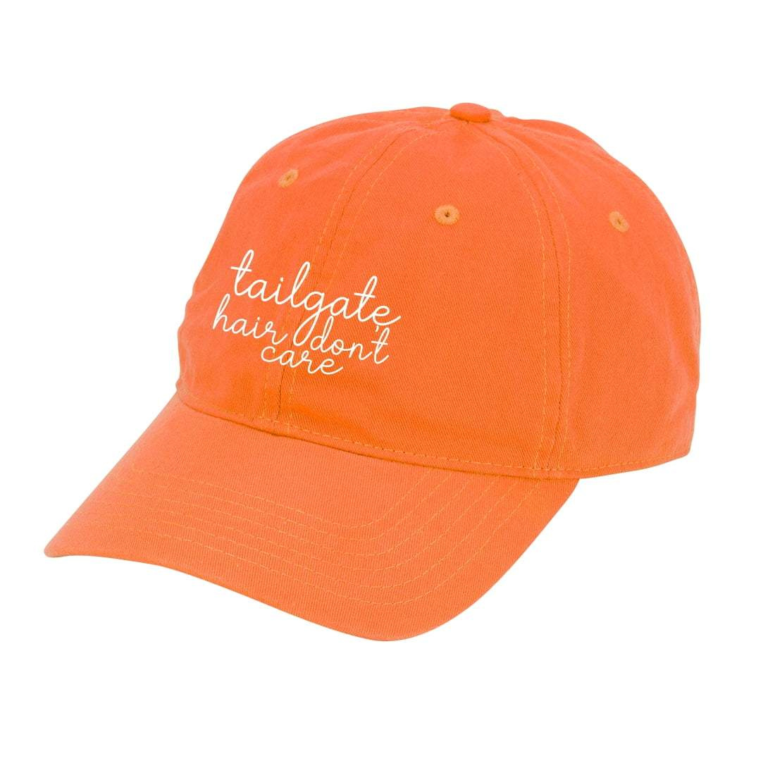 Orange Tailgate Hair Don't Care Cap