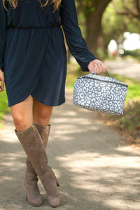 Smokey Leopard Cosmetic Bag - Crowned Boutique