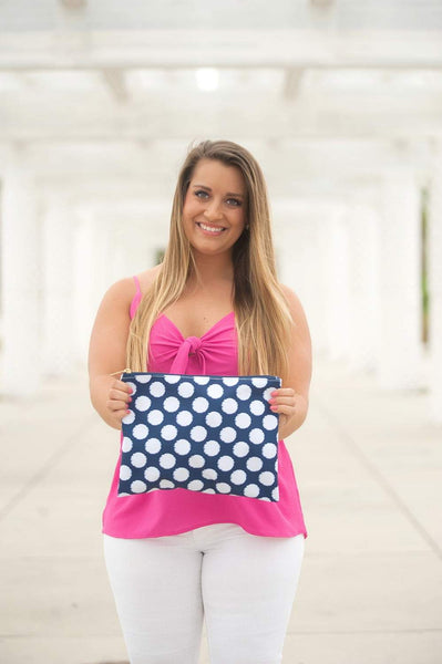 Polly Zip Pouch - Crowned Boutique