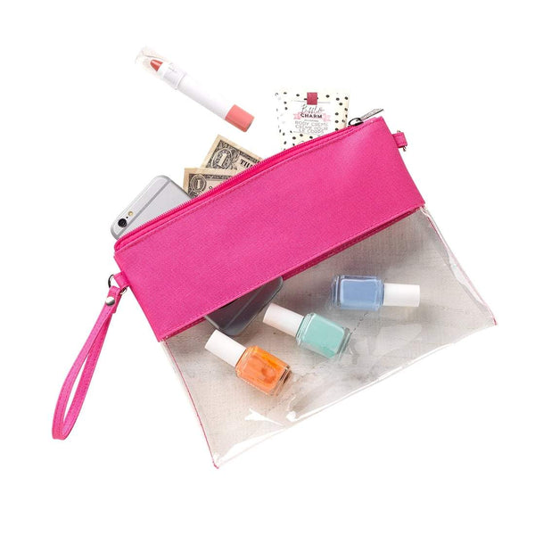 Hot Pink Clear Purse