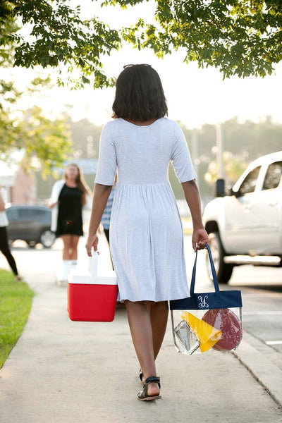 Navy Clear Tote