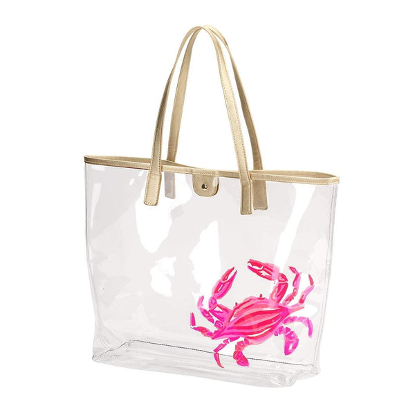 Crab Retreat Clear Tote