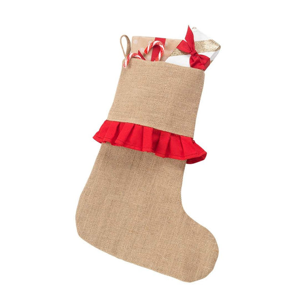 Red Ruffle Stocking