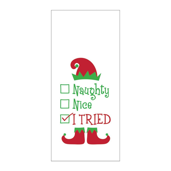 Naughty or Nice Hand Towel