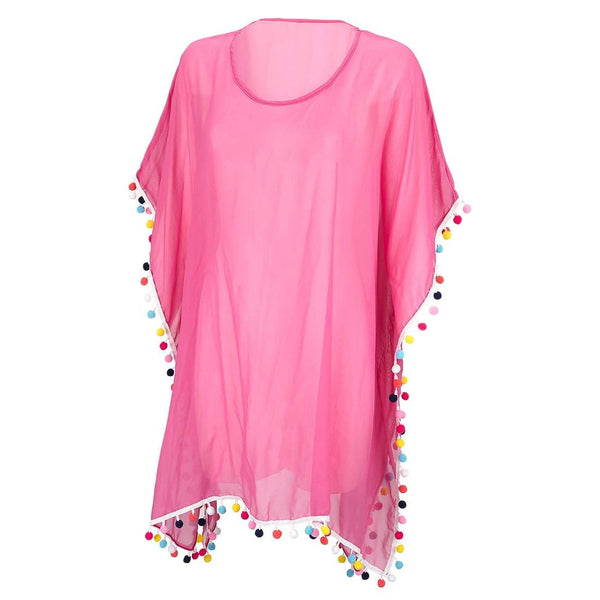 Hot Pink Pom-Tastic Cover up