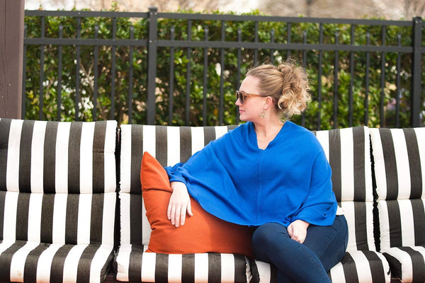 Royal Blue Chelsea Poncho
