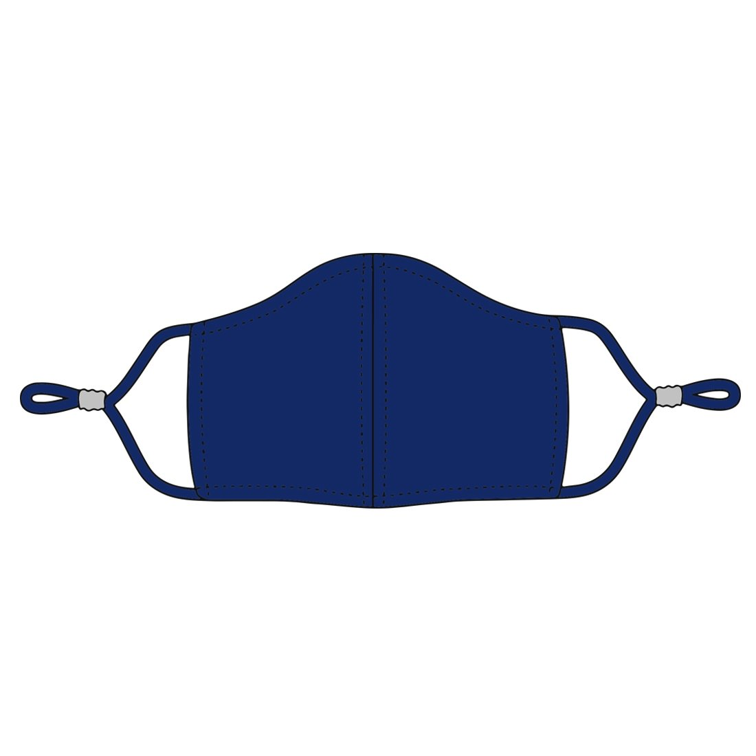 Navy Adjustable Kids' Face Mask